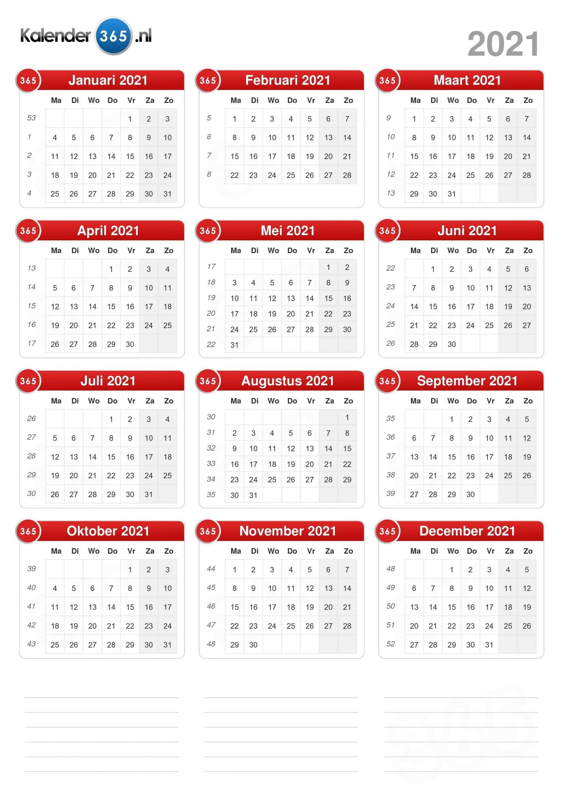 Pick Kalender 2021 Augustus September