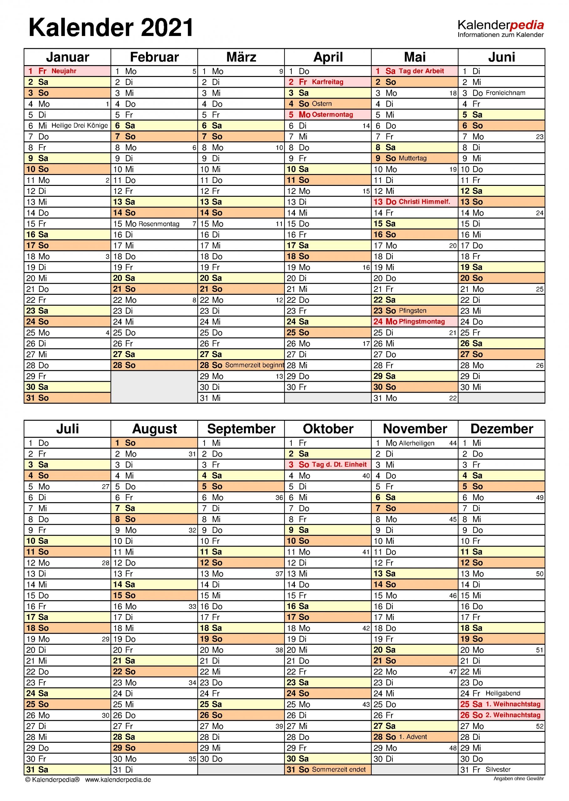 Pick Kalender 2021 Zum Ausdrucken Ab Juli