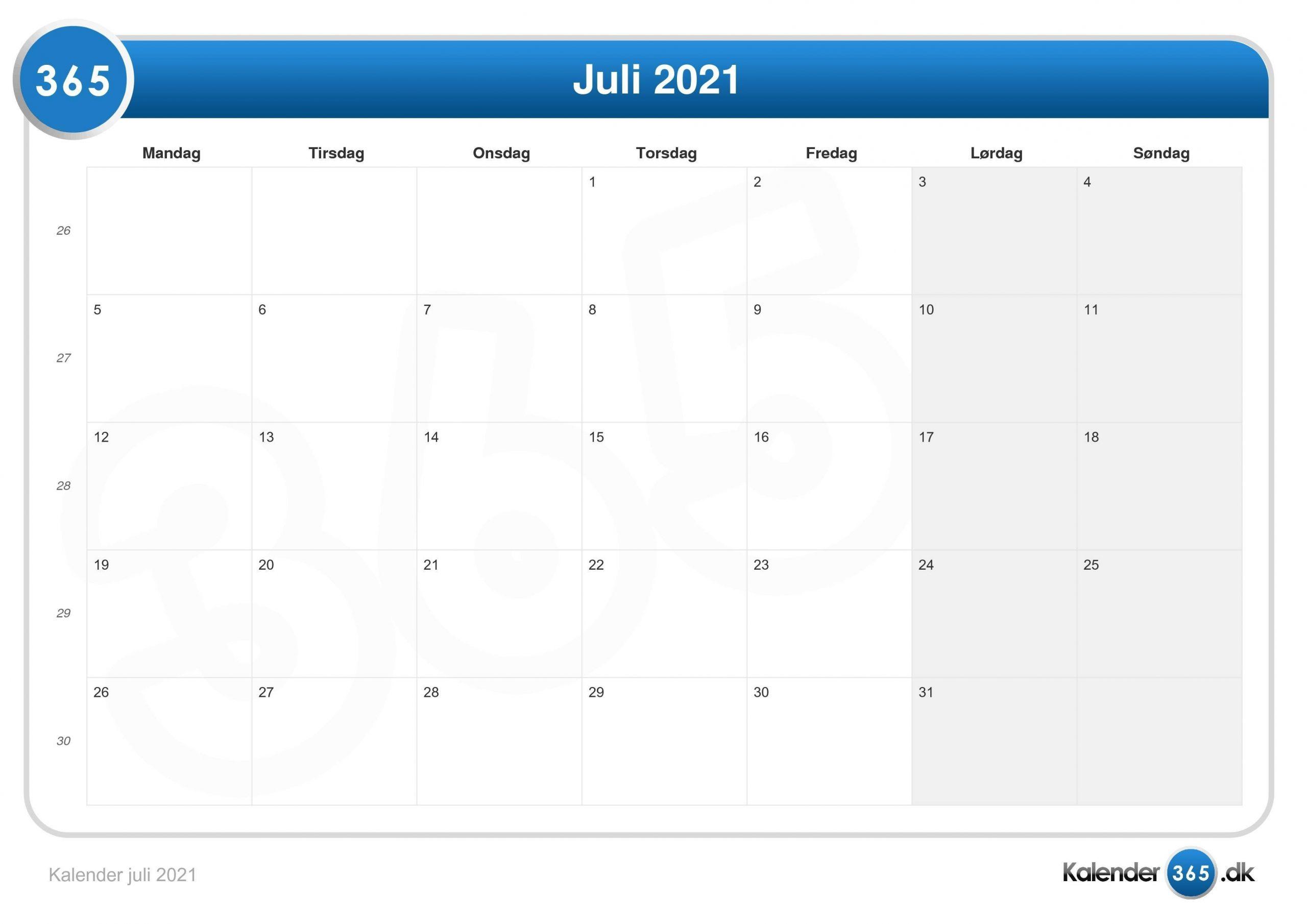 Pick Kalender Juli 2021
