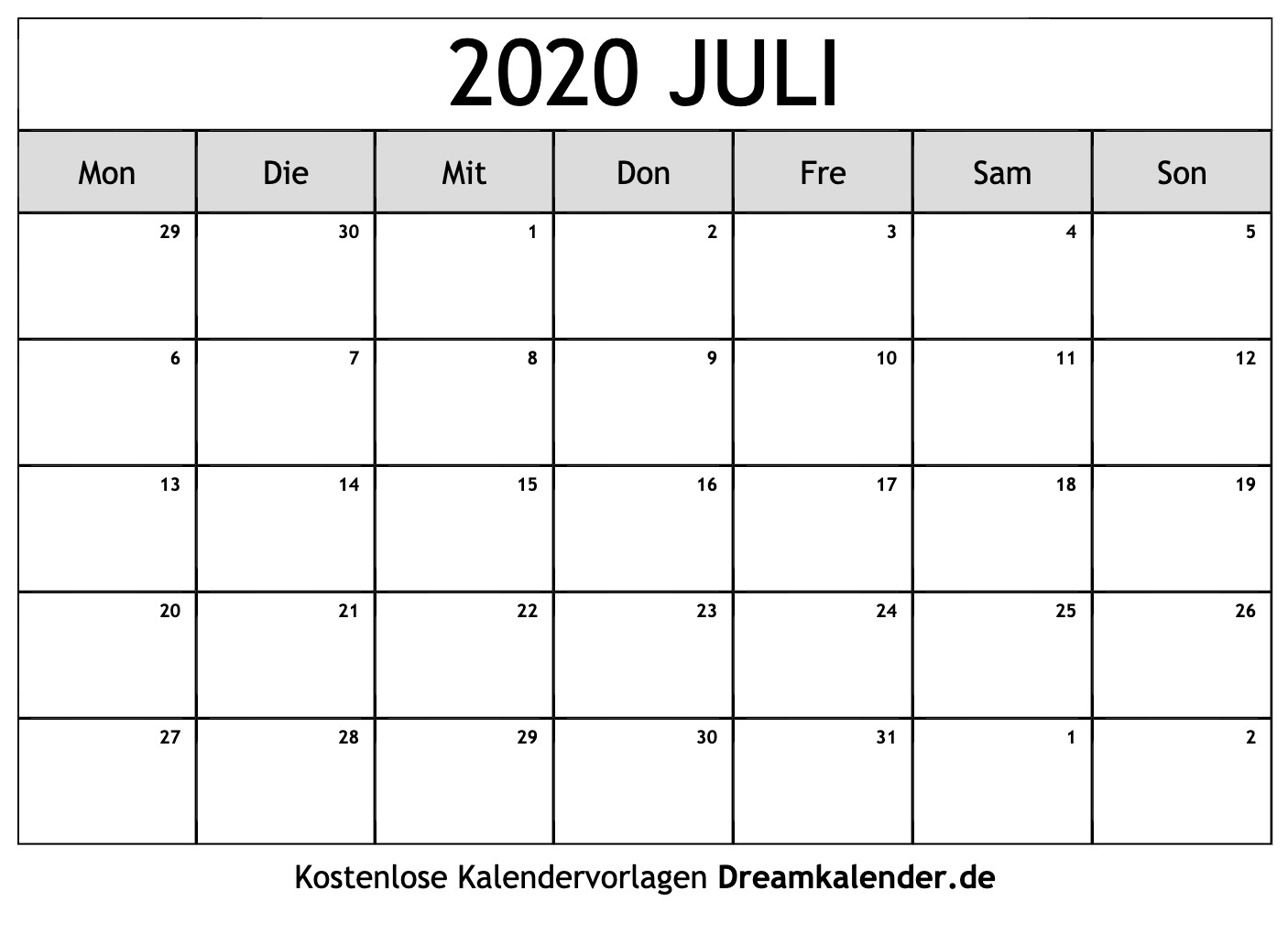 Pick Kalender Juli August