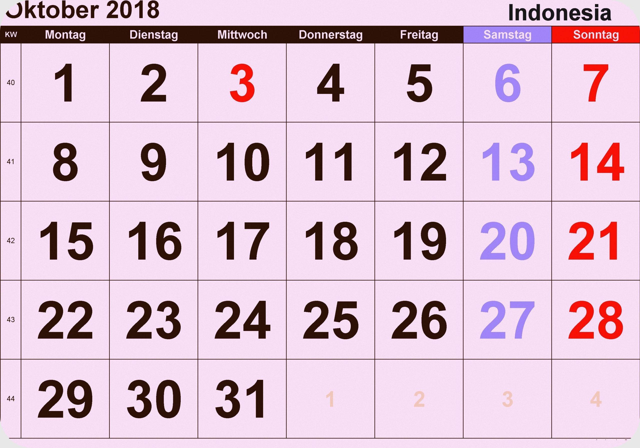 Pick Kalender Oktober 2021