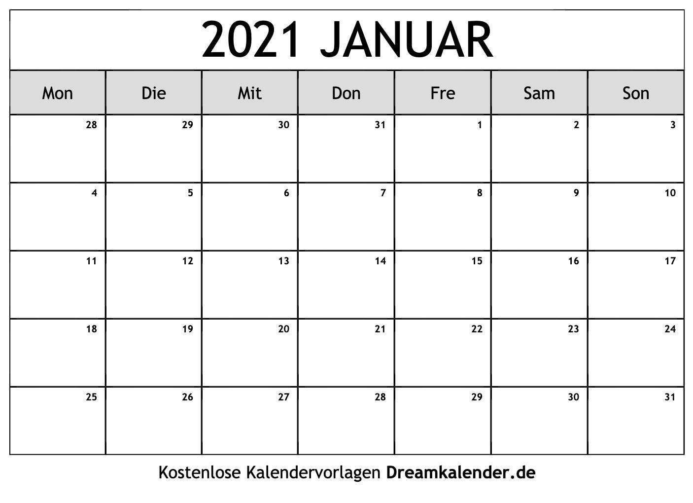 Pick Kalenderblatt Monat 2021