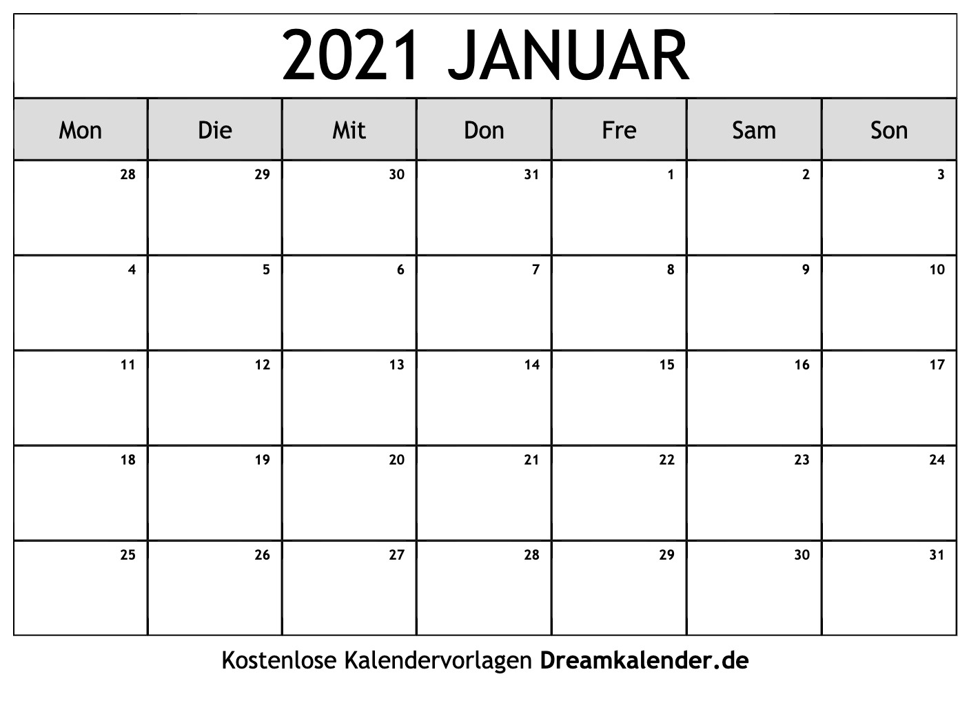 Pick Kalenderblätter Monat 2021 Drucken