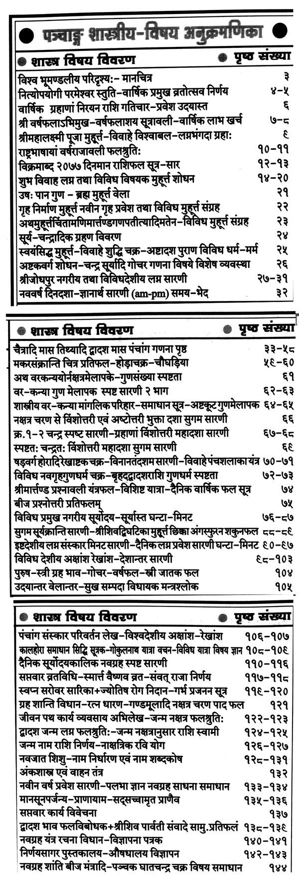 Pick Kishor Jantri Panchang 2021