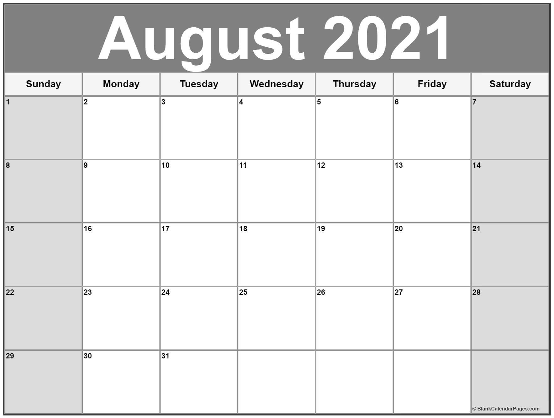 Pick Leo August 2021 Calender