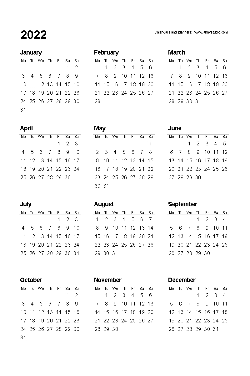 Pick Month At A Glance 202