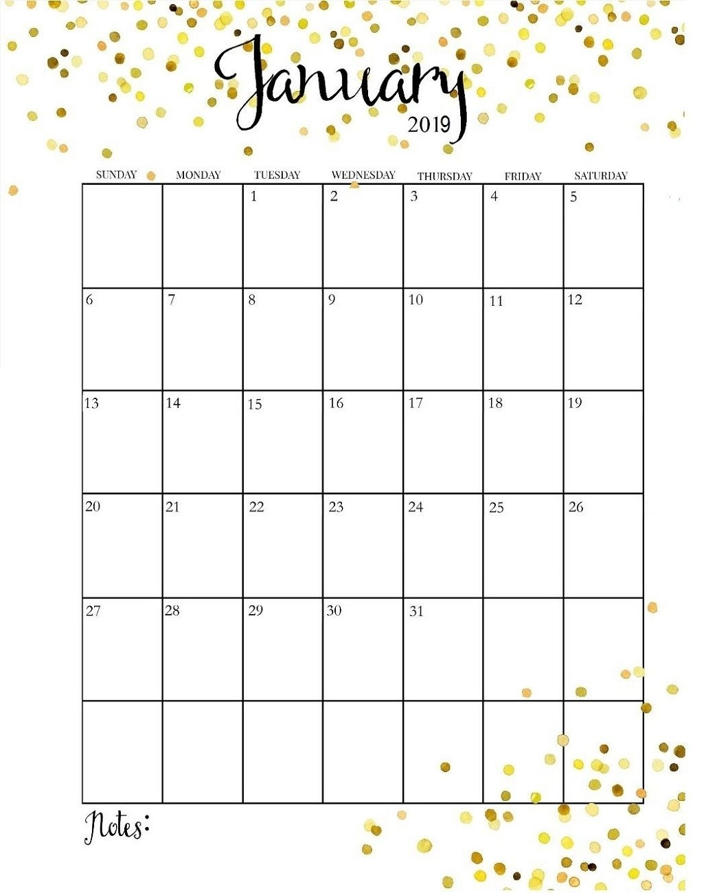 Pick Month At A Glance Blank Calendar Template