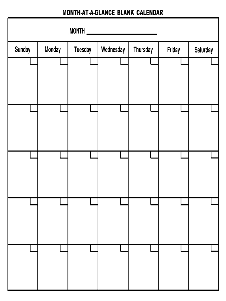 Pick Month At A Glance