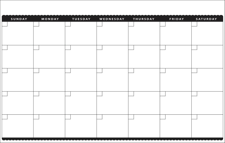 Pick Month At Glance Printable