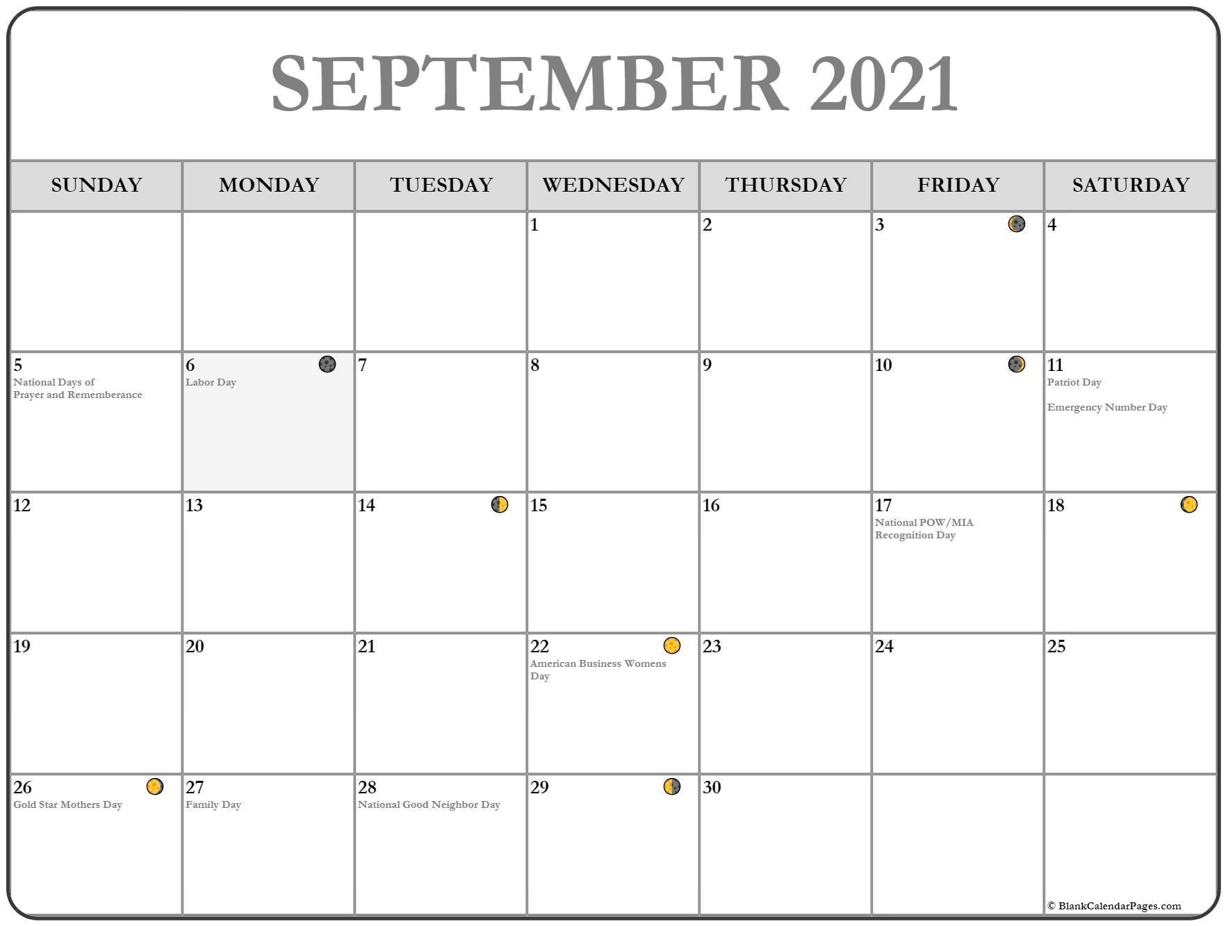Pick Moon Chart September 2021