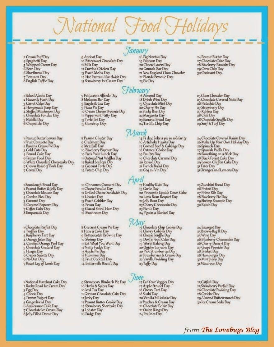 Pick National Day Calendar Free Printable