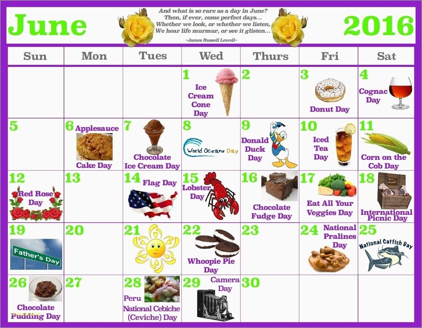 Pick National Days In June