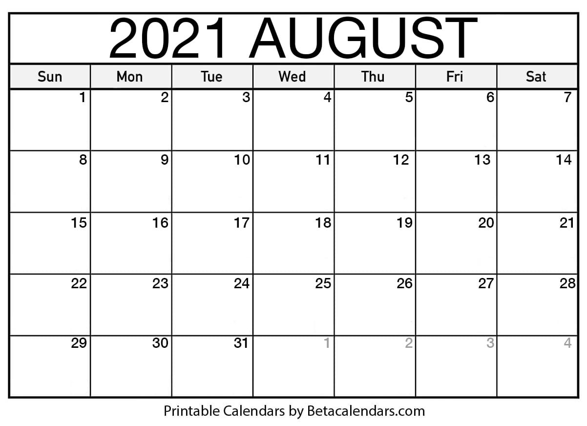 Pick National Food Days 2021 Printable August 2021
