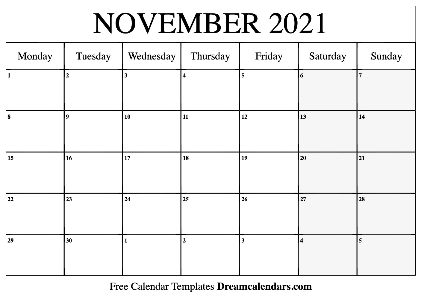 Pick November 2021 Calendar Template Event That I Can Type On