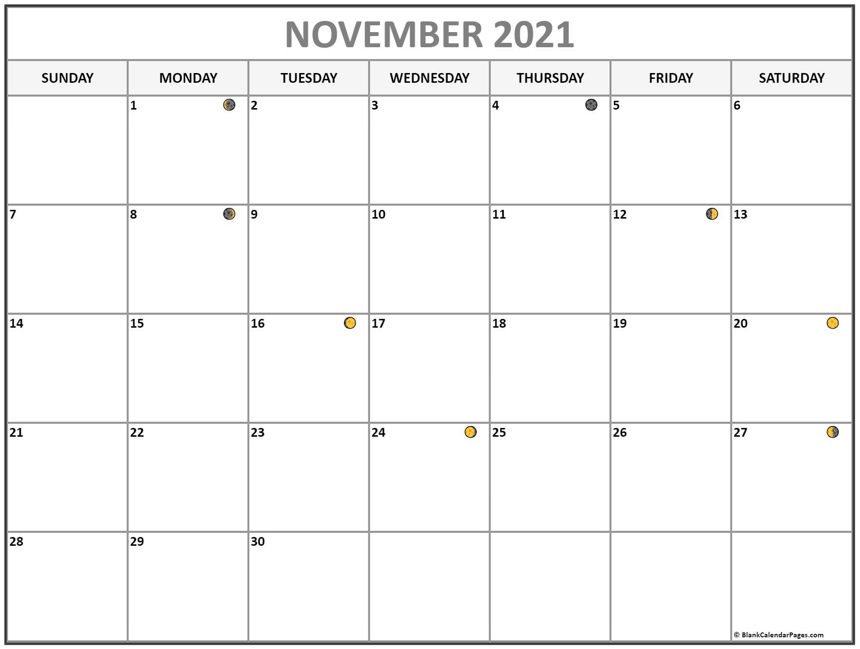 Pick November 2021 With Moons