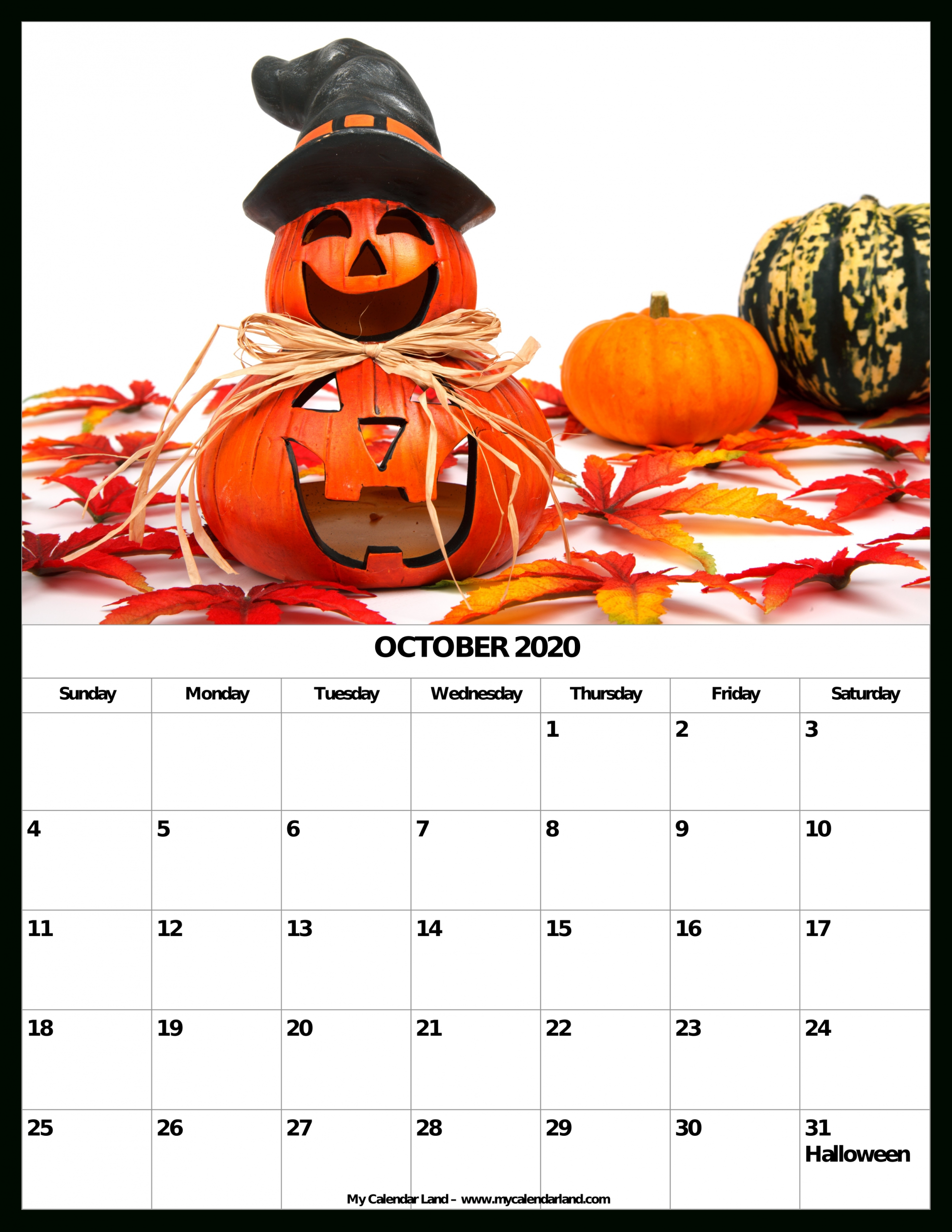 Pick October Outlook Calendar