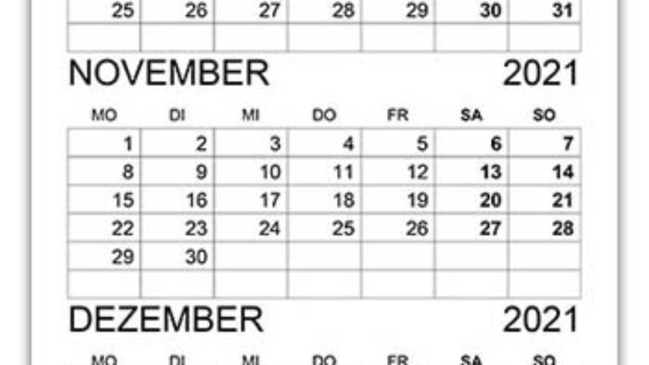 Pick Oktober – Dezember 2021 Kalender