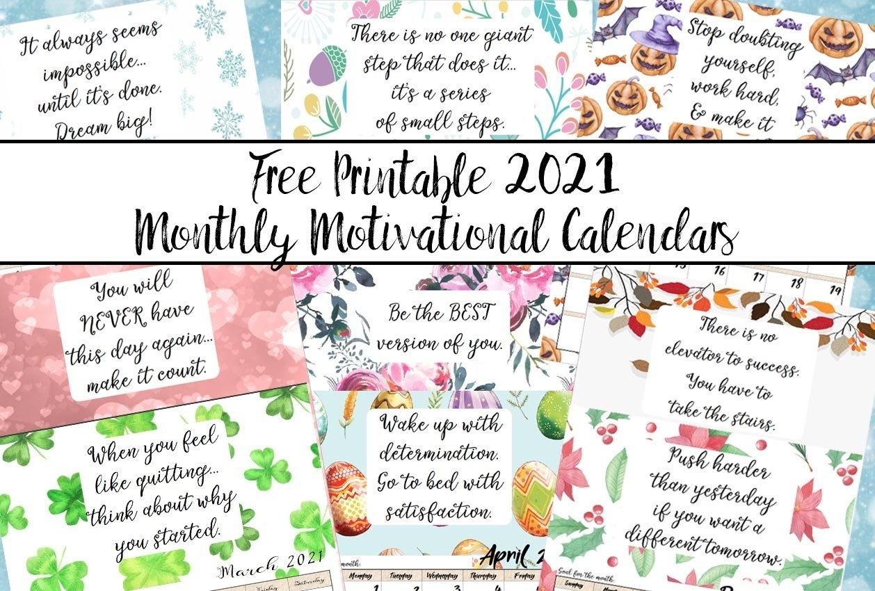 Pick Print Free Calendar 2021 By Month