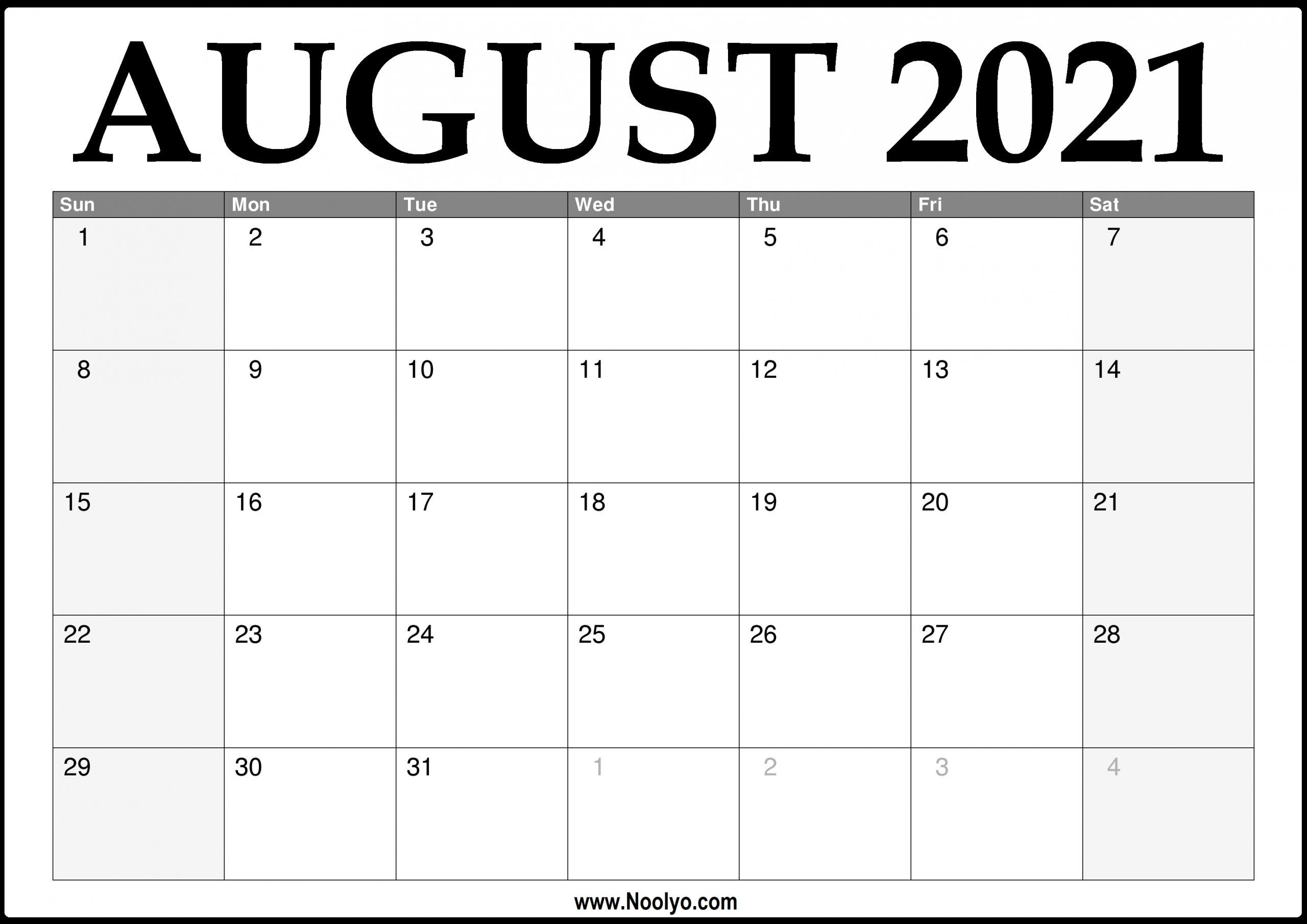 Pick Printable 2021 August Calendar With Lines