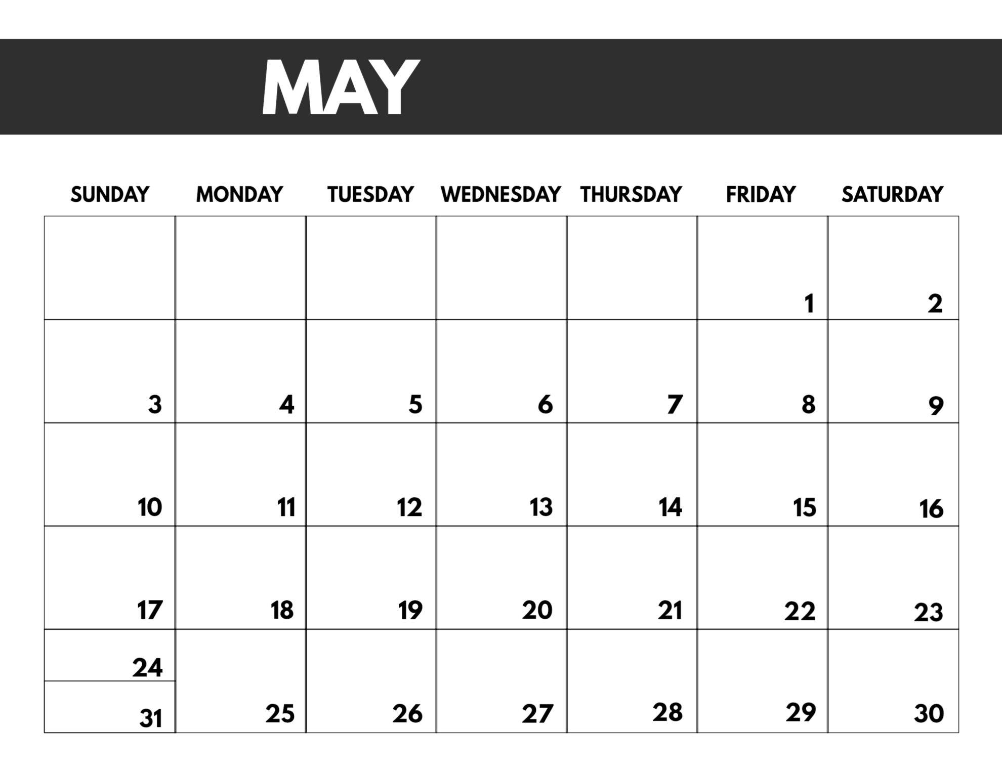 Pick Printable 8.5X11 Calendar