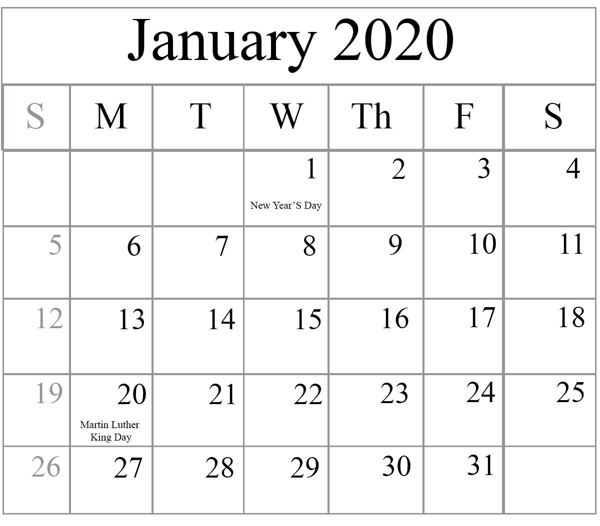 Pick Printable Calendar Without Downloading