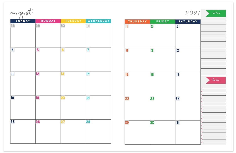 Pick Printable Monthly Calendar 2021