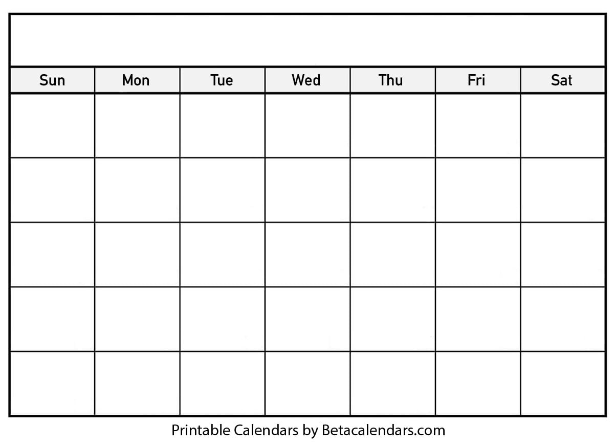Pick Printable Undated Calendar