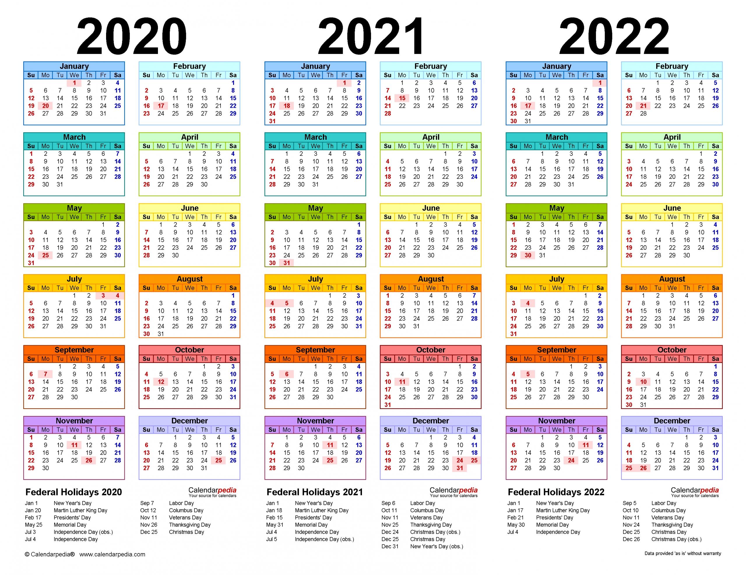Pick Printable Yearly Calendars 2021 2022