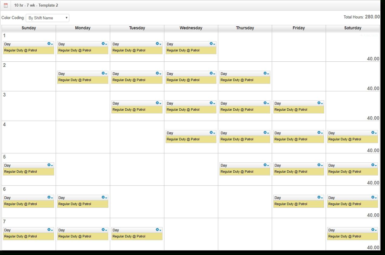 Pick Sample 12 Hour Weekend Schedule