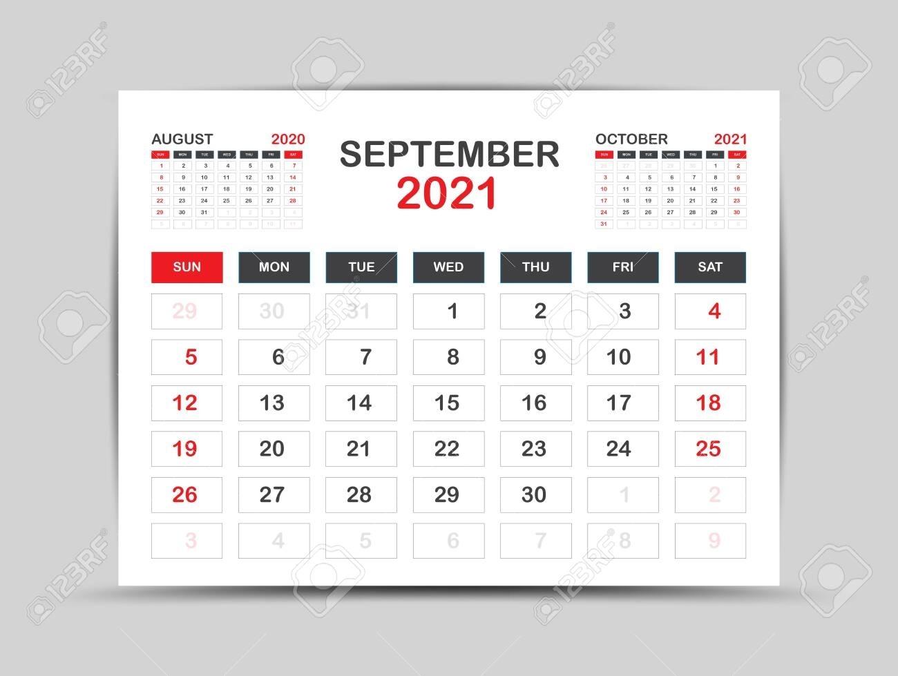 Pick September 2021 Calendar Clip Art