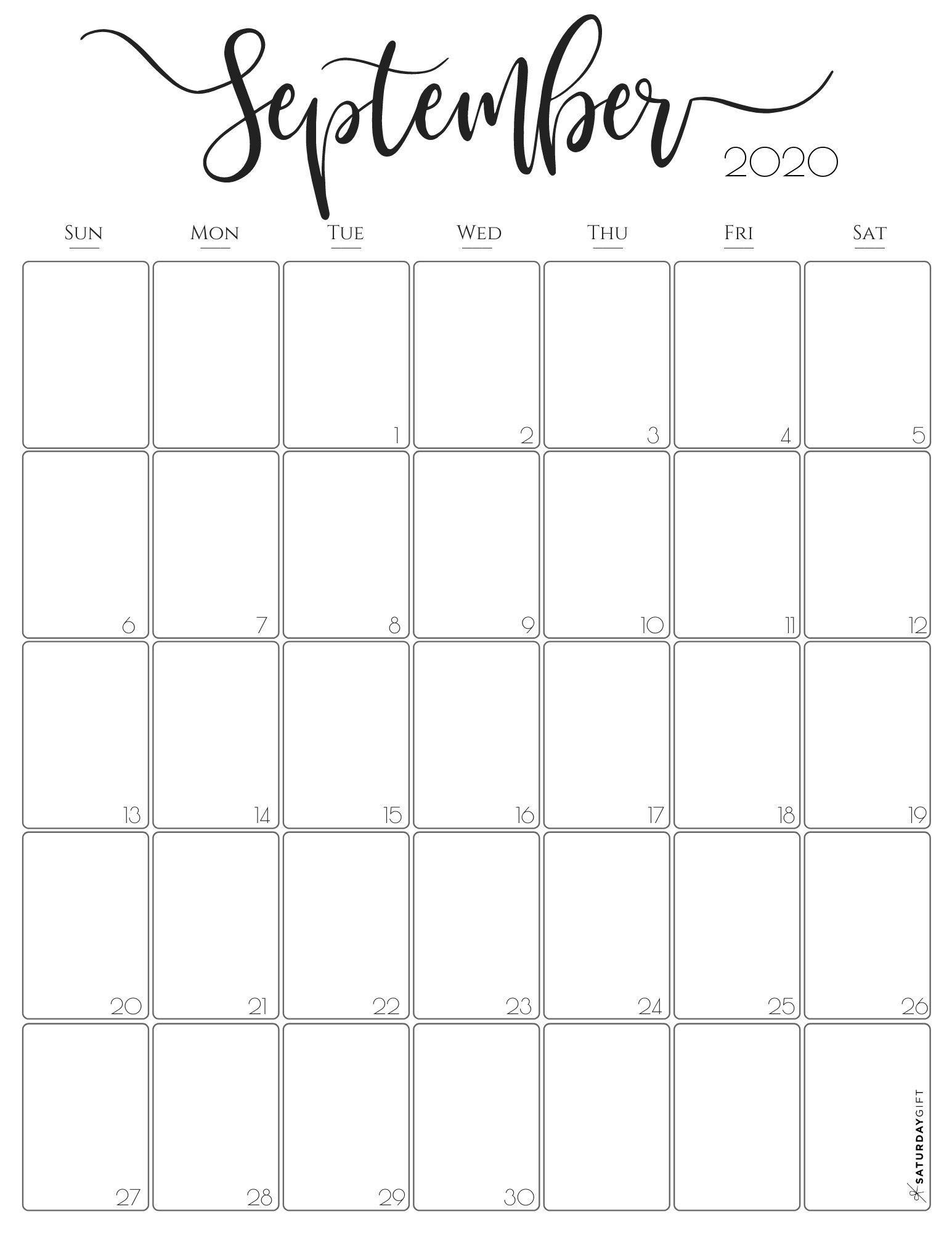 Pick September Calendar 2021 Printable Free Pretty