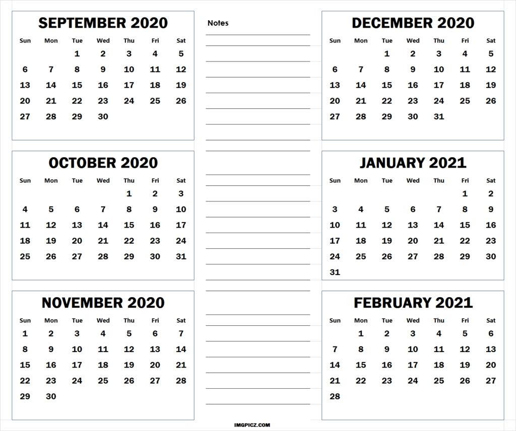 Pick September Through December 2021 Calendar Printable