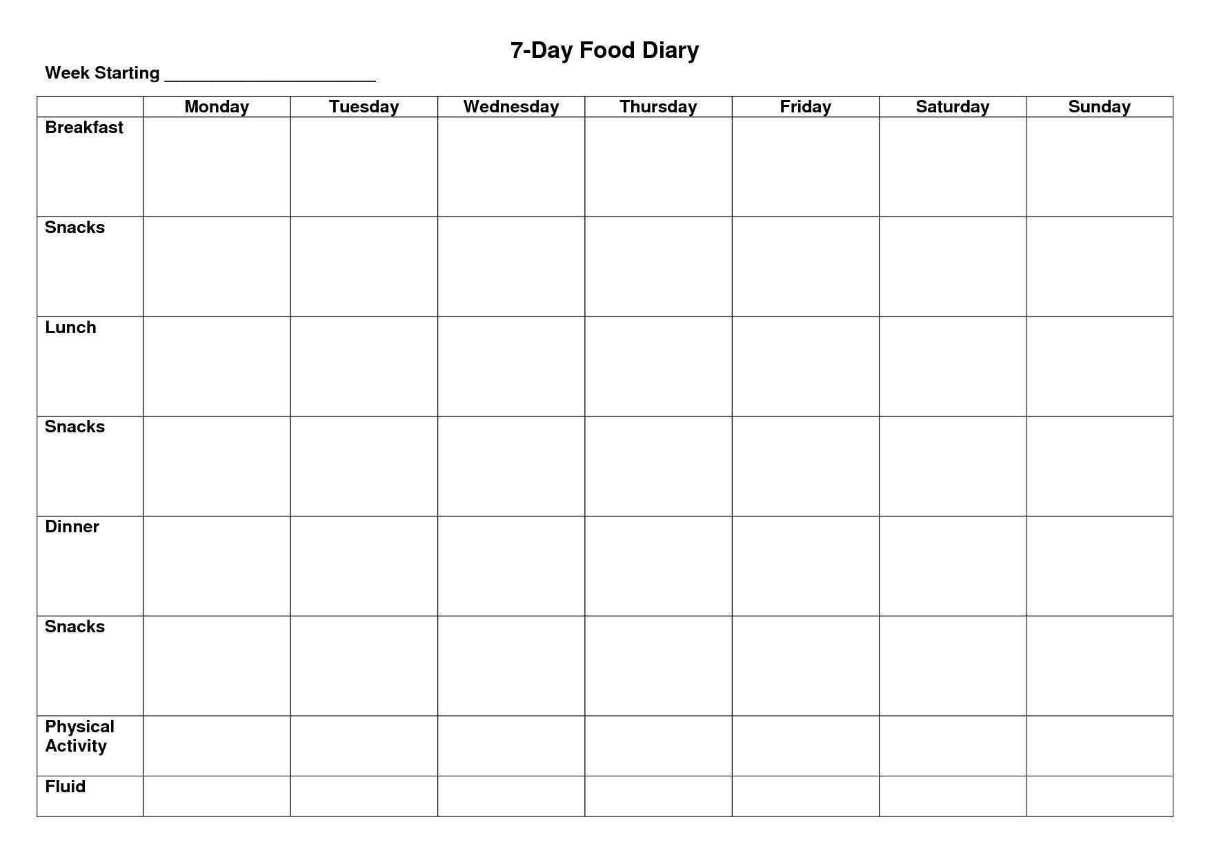 Pick Seven Day Blank Planner