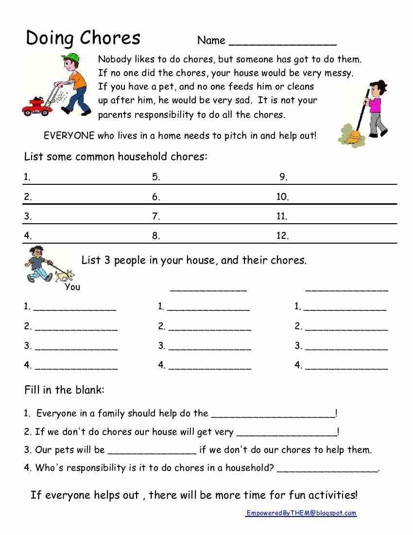 Pick Social Skills Worksheet Activity Pick Or Fill In Blank