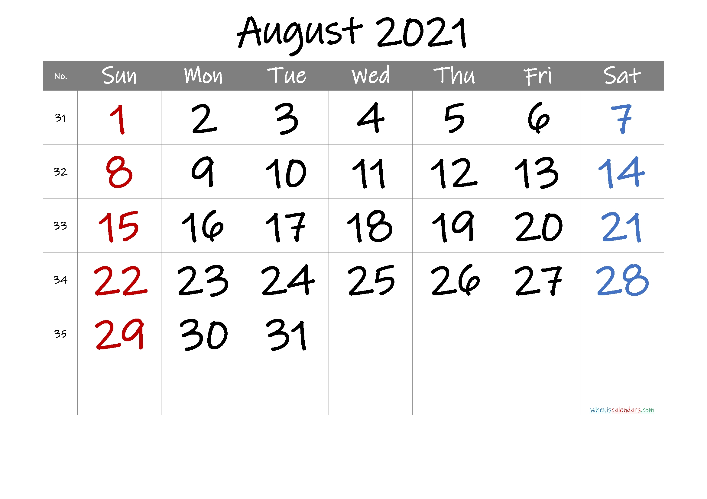 Pick Template Trove Calendars 2021 August September October