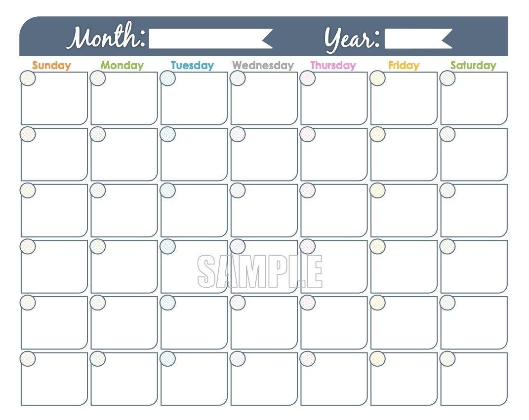 Pick Undated Calendar Month