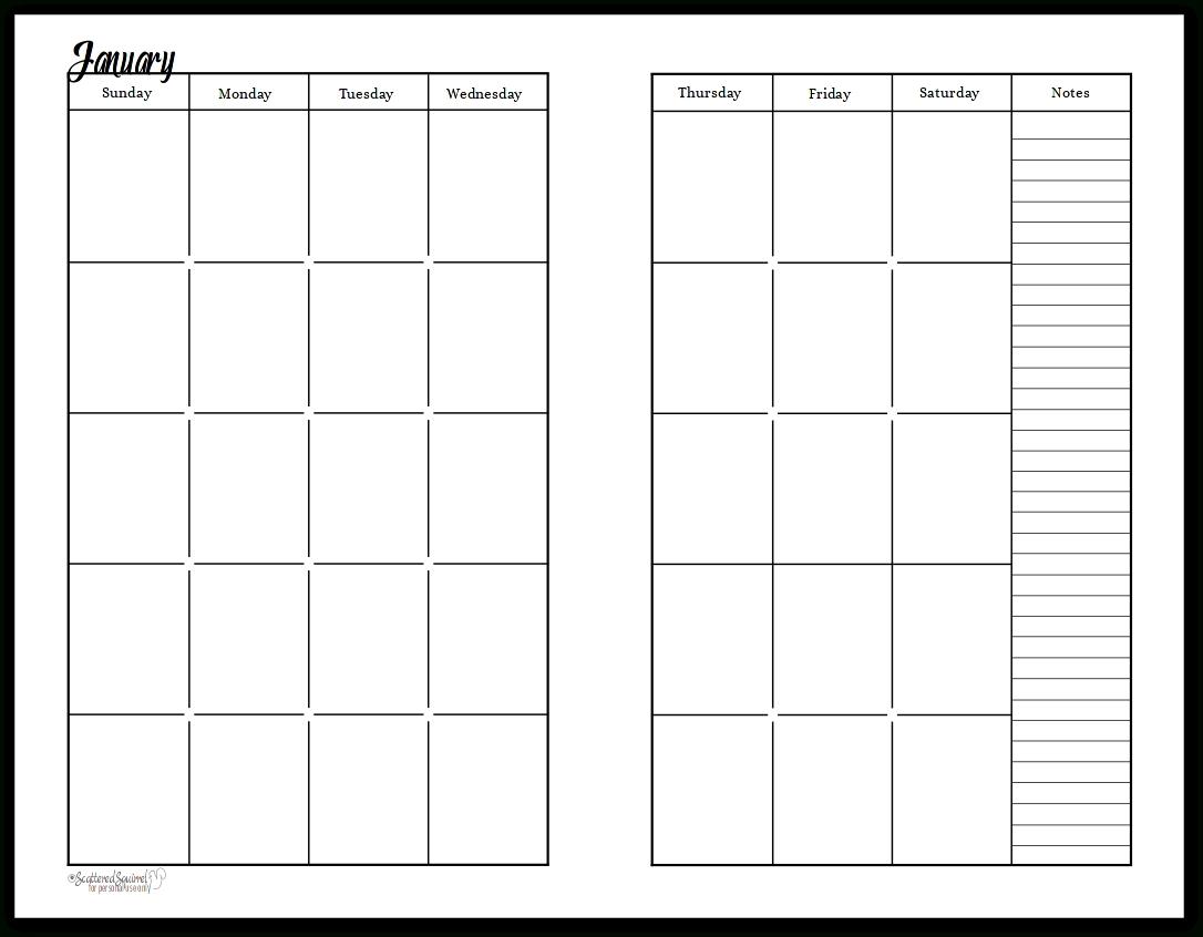 Pick Undated Calendar Printable Free