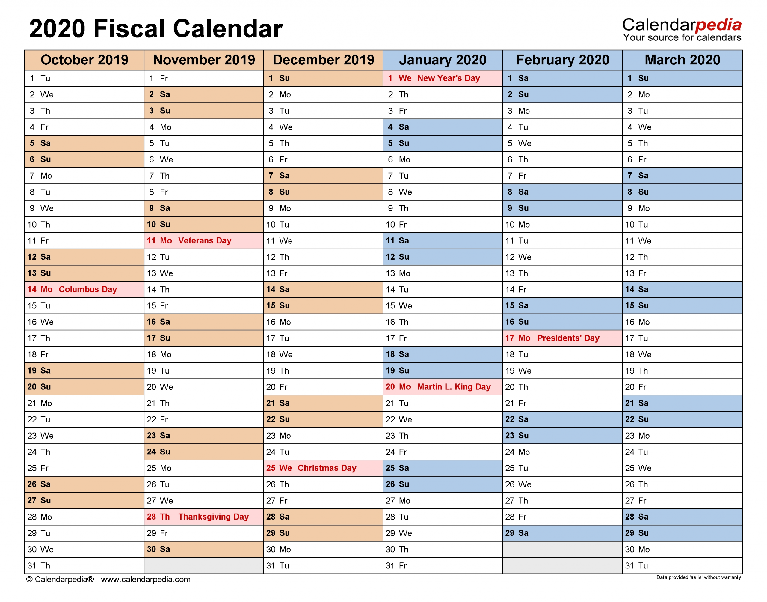 Pick What Week Of The Financial Year Are We In