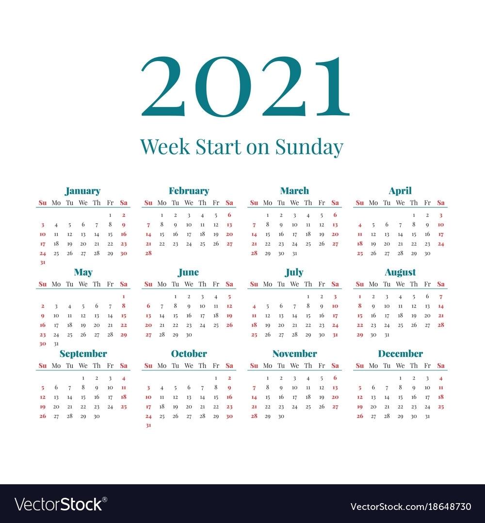 Pick Work Week Calendar 2021
