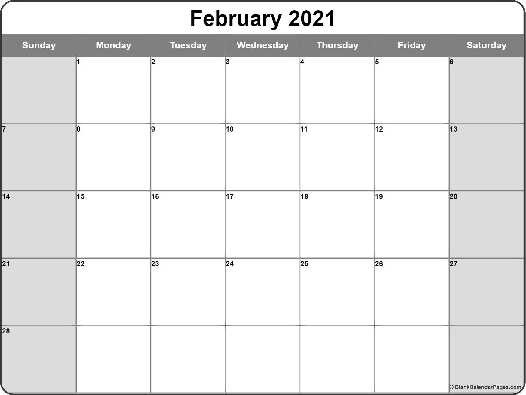 Pick Writeable Monthly Calendar Template 2021
