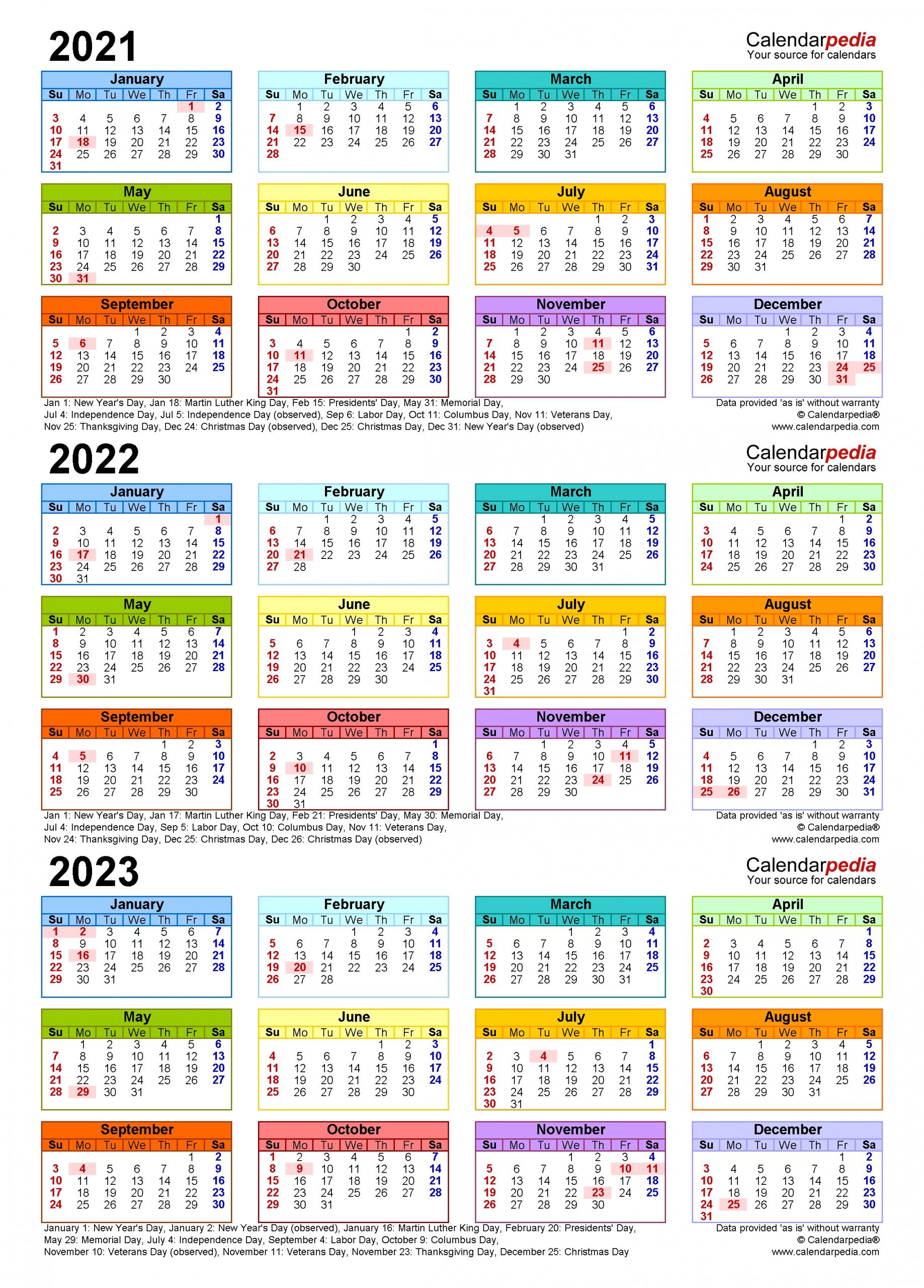 Pick Year Overview 2021 Thru 2024