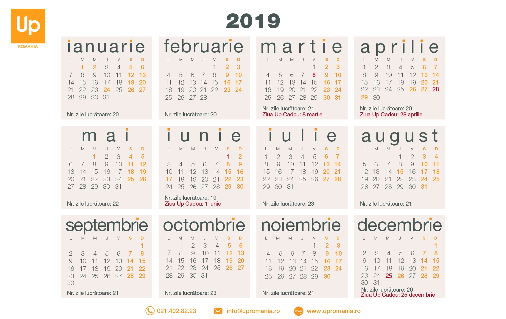 Pick Zile Lucratoare Feb 2021