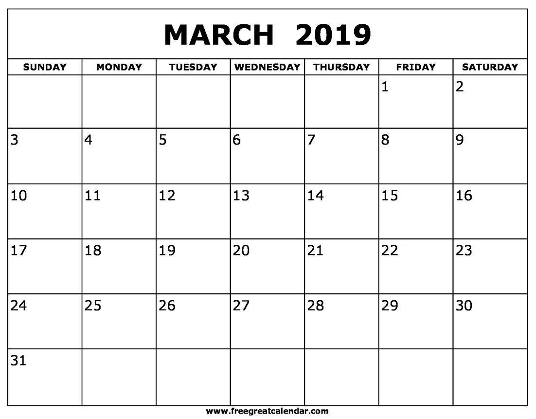 Take 11X17 Monthly Calendar Printable