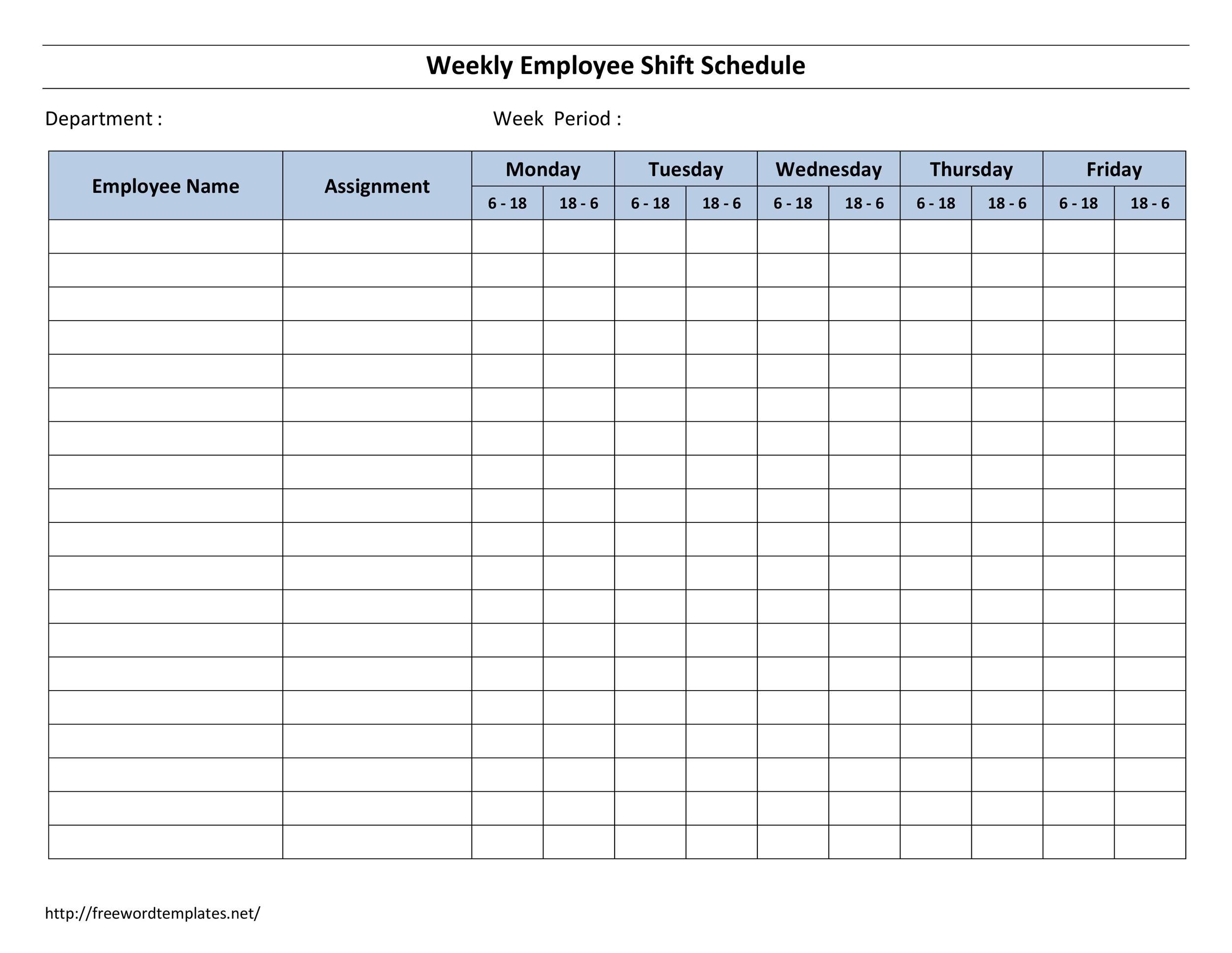 Take 12 Hour Shift Templates
