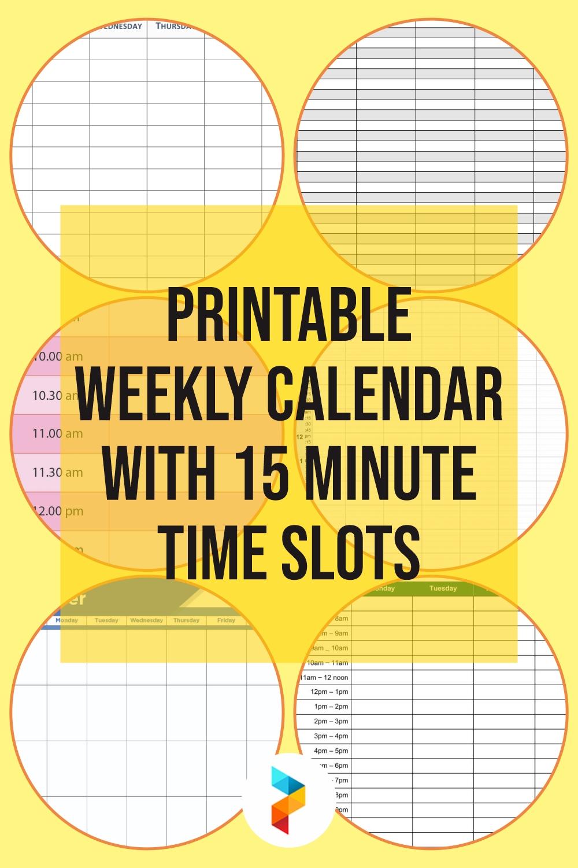 Take 15 Minute Calendars Red