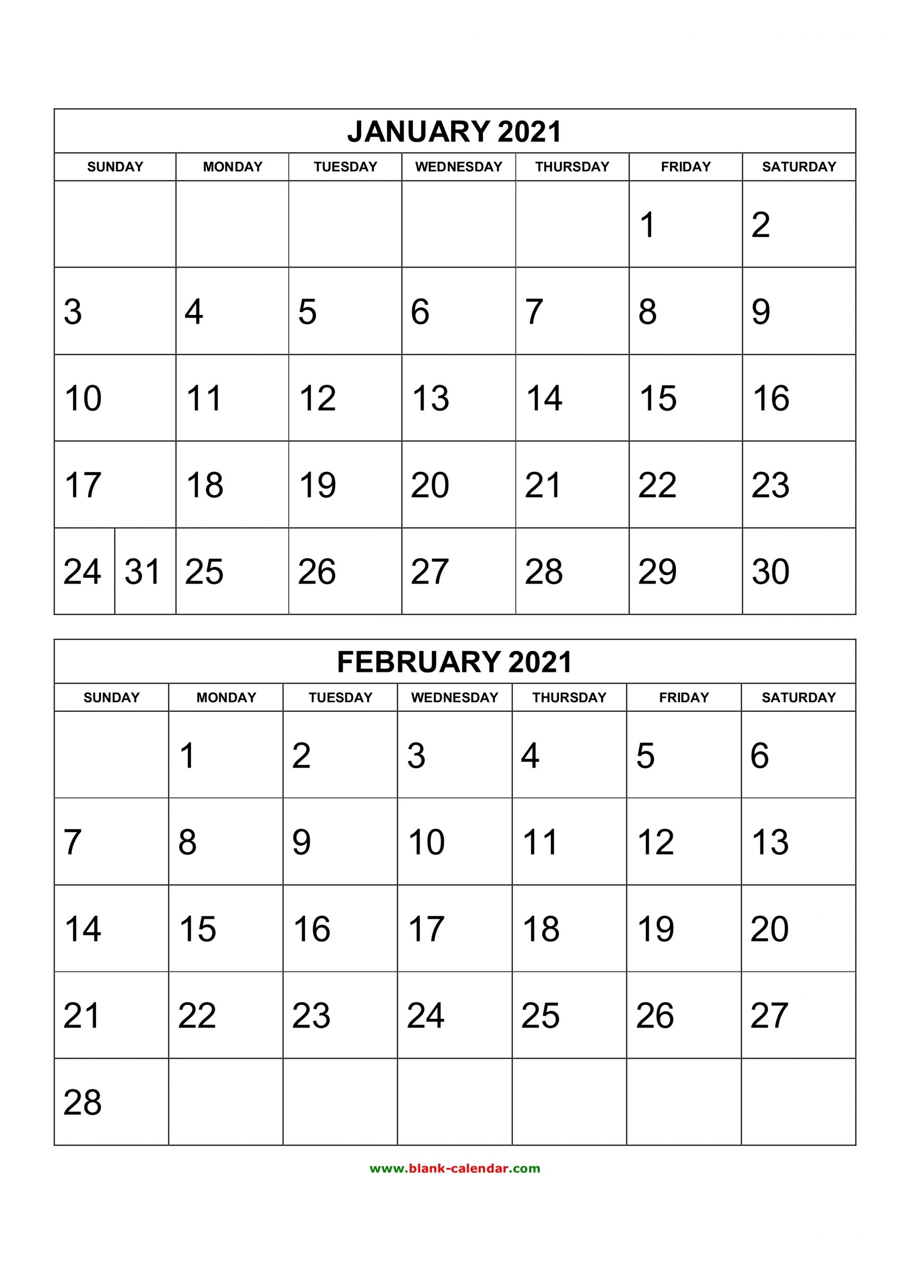 Take 2021 Calendar Month By Month Free Printable