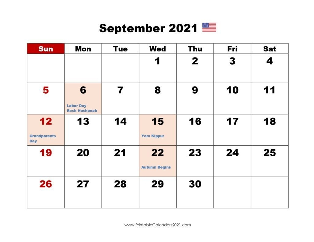 Take 2021 Calendar With Holidays