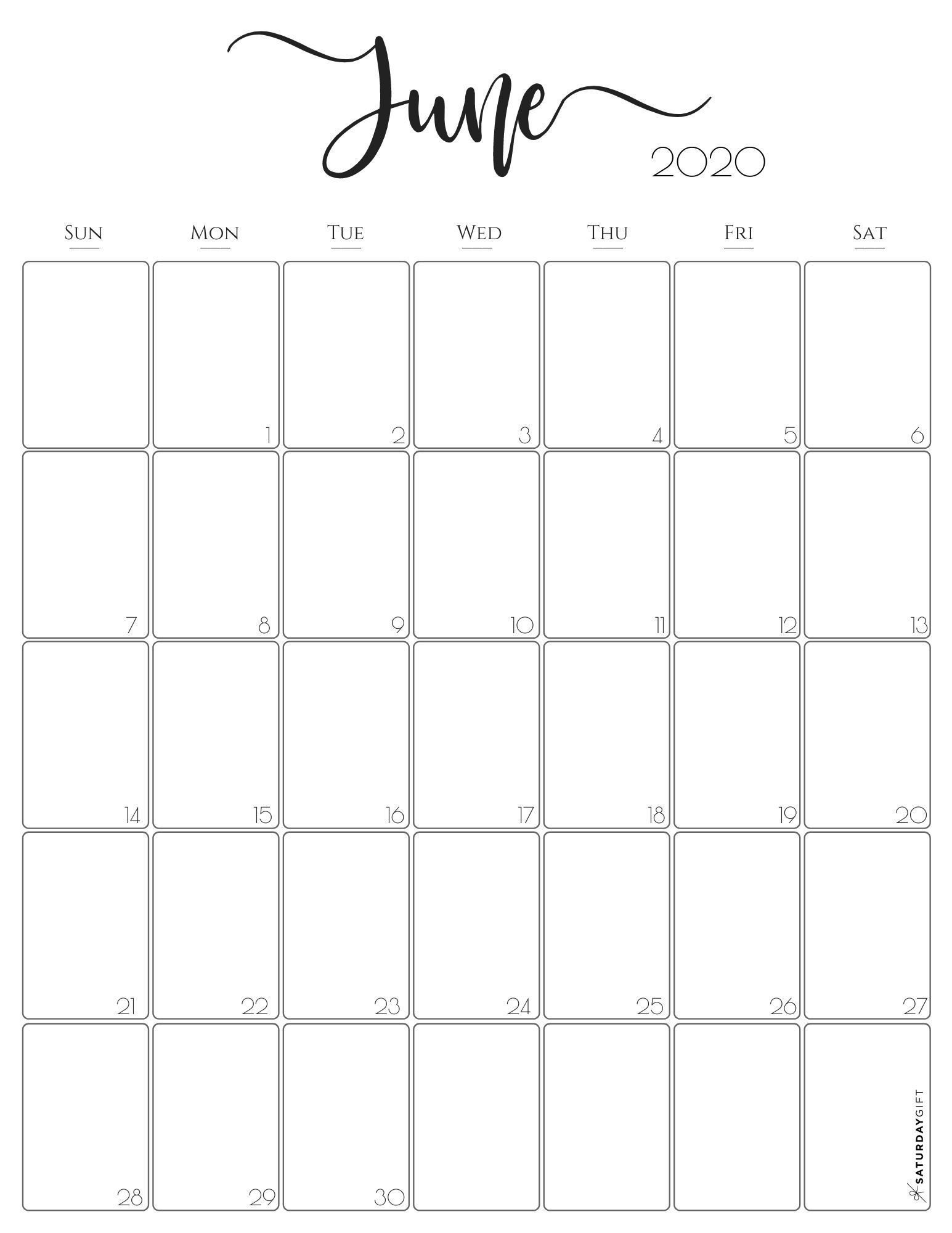 Take 2021 June Calendars To Print Without Downloading