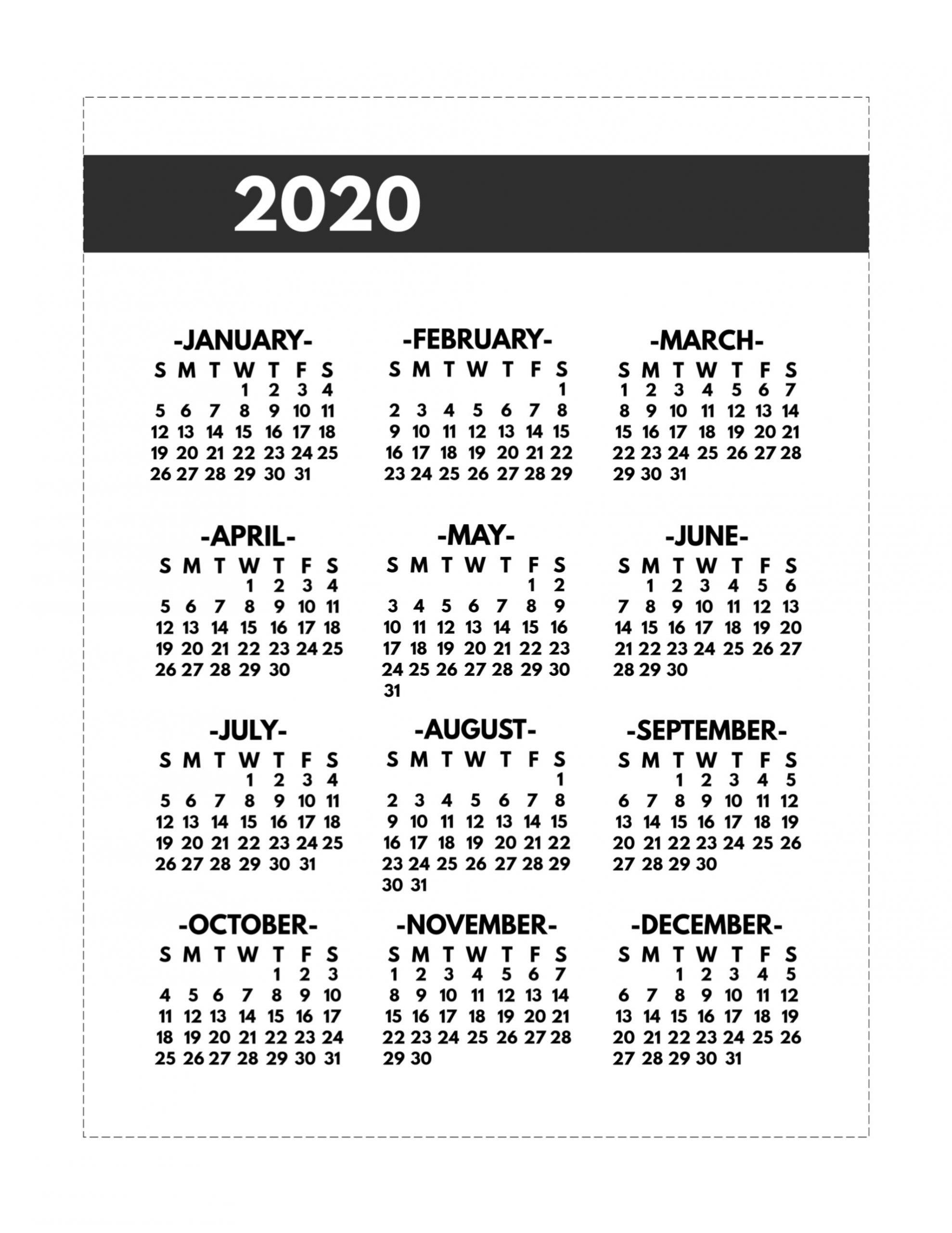 Take 2021 Single Page 8.5X11 Calendar