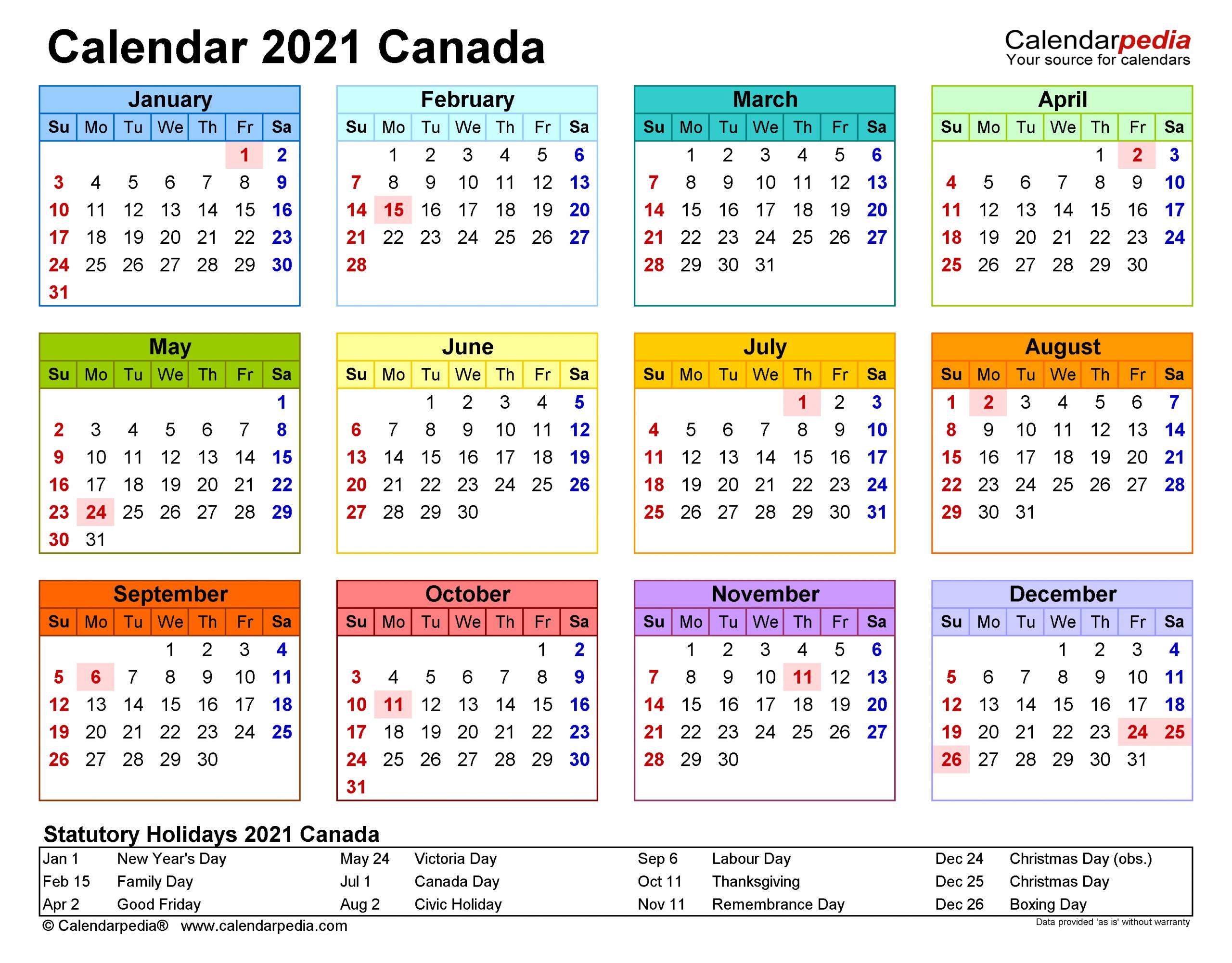 Take 2021 Work Schedule